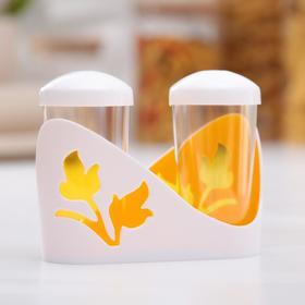Набор для специй Viola, 2 шт: солонка и перечница, цвет жёлтый