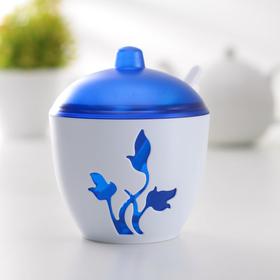 Сахарница с ложкой «Viola», цвет синий