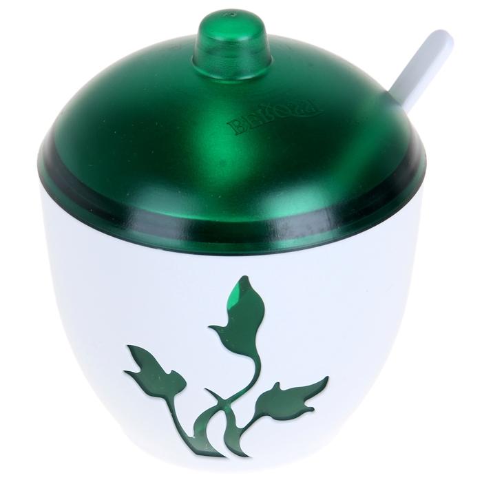 Сахарница с ложкой «Viola», цвет зелёный