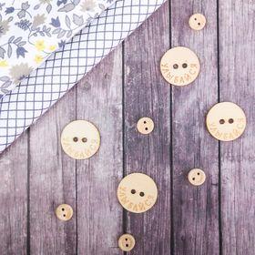 """Set of decorative buttons """"Smile!"""", dia 3 cm"""
