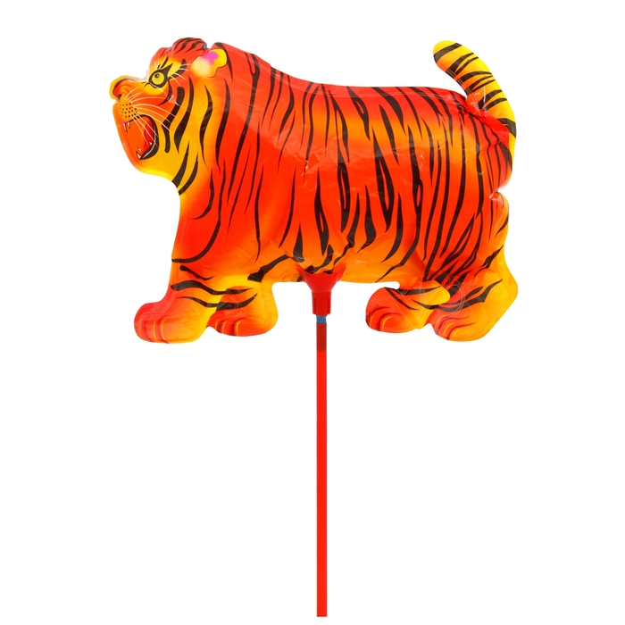 """Balloon foil 10"""" """"Tiger"""" with a stick"""