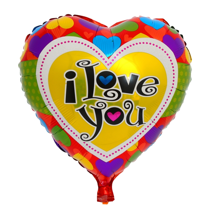 "Foil balloon ""I Love You"" Heart 18"" heart"