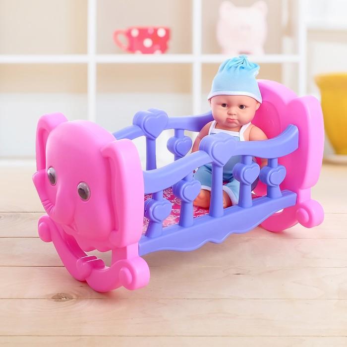 Кровать для куклы «Слон», с пупсом