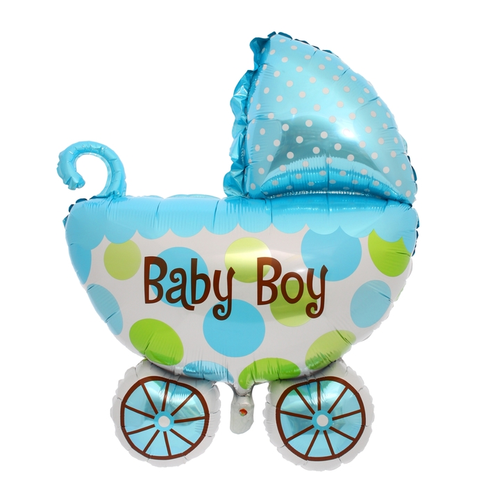 "Balloon foil ""Pram"" 32"" d/boy"