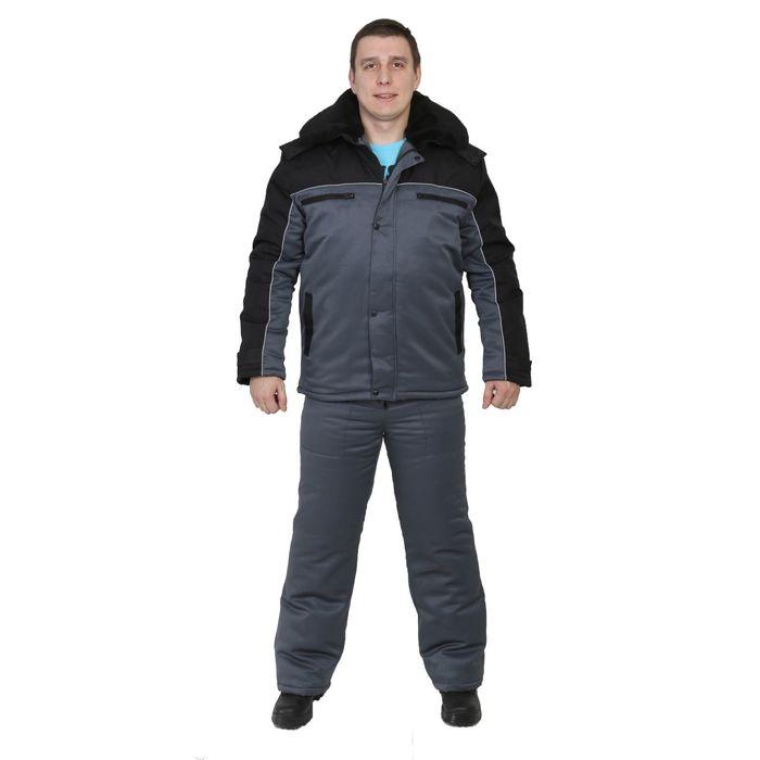 """Костюм """"Патриот-C"""", размер 56-58, рост 170-176 см, цвет тёмно-серый/чёрный"""