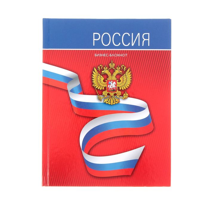 """A5 business notebook, 80 sheets """"Ribbon with tricolor"""", hard cover, glossy lamination."""