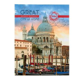 """Business notebook A5, 80 sheets """"Great Venice"""", hard cover, glossy lamination."""