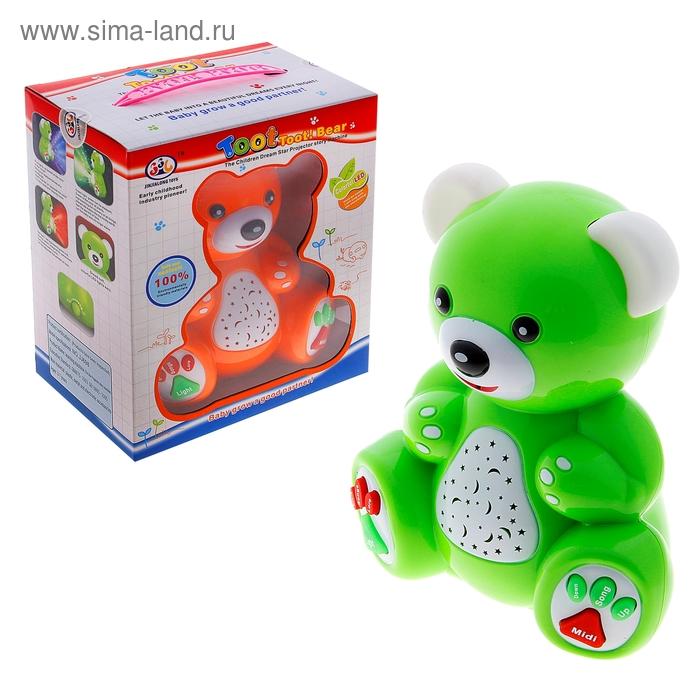 """Игрушка """"Медвежонок"""", с функцией ночника, световые и звуковые эффекты, работает от батареек, цвета МИКС"""