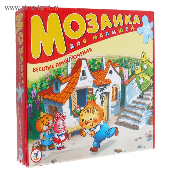 """Мозаика для малышей """"Весёлые приключения Чиполлино"""", maxi, 24 элемента"""
