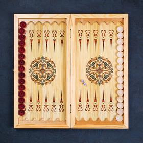 """Backgammon average """"Fishing. Landscape"""", 500 × 250 mm"""