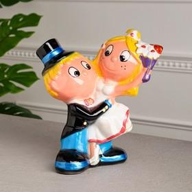 """Копилка """"Жених и невеста"""", глянец, разноцветная, 30 см"""