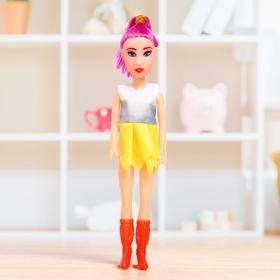 Кукла 'Марина' в цветном платье, МИКС Ош