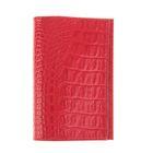 Обложка для паспорта O-8-15, цвет красный