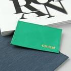 Футляр для карточки, флотер, цвет зелёный