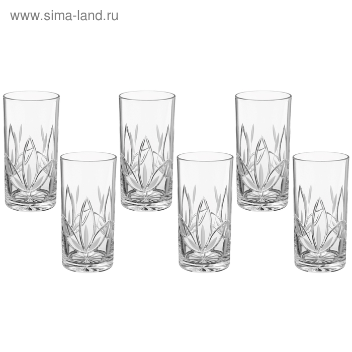 """Набор стаканов для коктейля 330 мл высокие """"Камыши"""", 6 шт"""