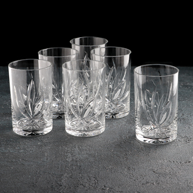 Набор стаканов для напитка НЕМАН «Цветок», 250 мл, 6 шт, хрусталь