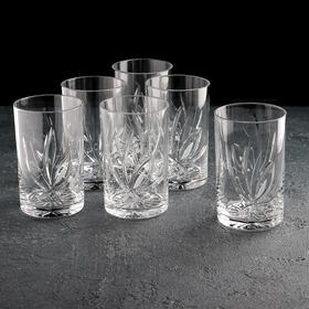 "Набор стаканов для напитков 250 мл ""Цветок"", 6 шт"
