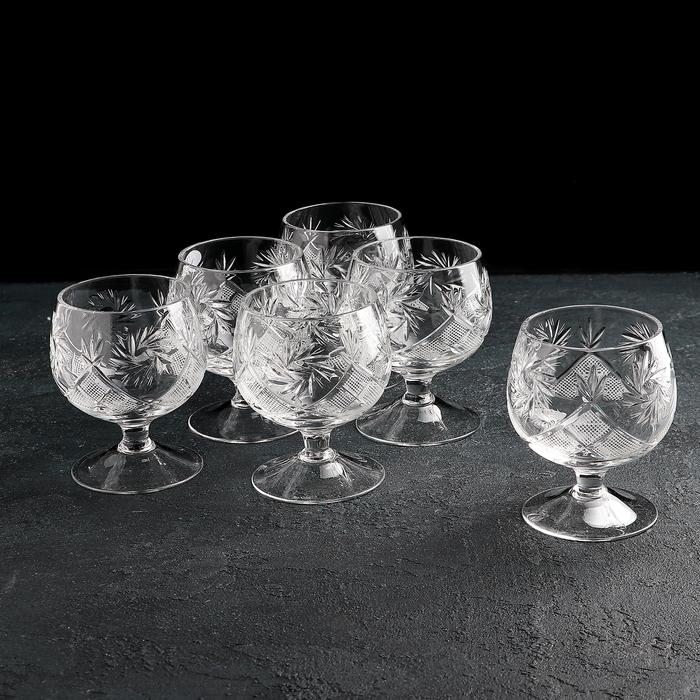 Набор бокалов для коньяка «Мельница», 200 мл, 6 шт, хрусталь - фото 1618892
