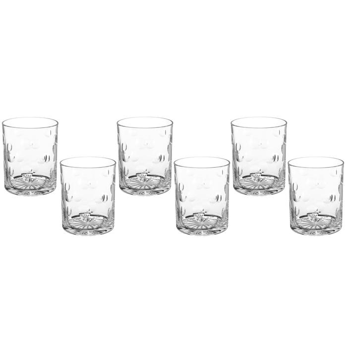 """Набор стаканов для виски 330 мл """"Ямки-линзы"""", 6 шт"""