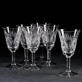 Набор фужеров для вина НЕМАН «Мельница и листья», 6 шт, 200 мл, хрусталь