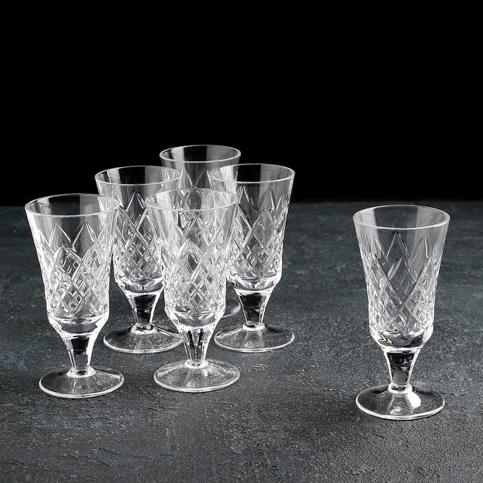 Set of glasses 50 ml Crystal, 6 pcs.