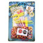 """Резиночки для плетения """"Ниндзя"""", набор 200 резиночек, 2 металлических шарма, бусины, наклейки, инструменты и мастер-класс"""