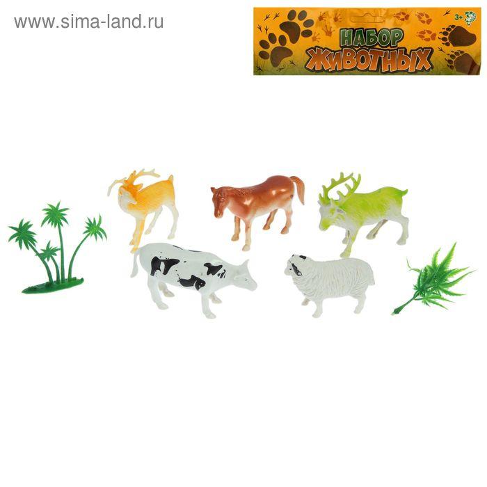 "Набор животных ""Деревня"", 5 фигурок с аксессуарами"