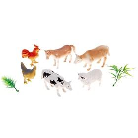Набор фигурок животных «Домашние животные», 6 штук, с аксессуарами