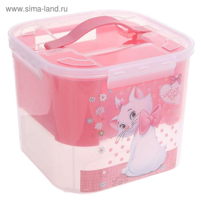 """Контейнер для детских принадлежностей """"Кошечка Мари"""", 7 л, цвет розовый"""