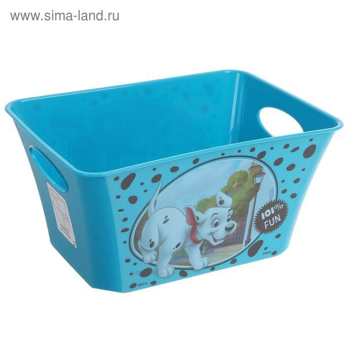 """Корзина для игрушек """"101 далматинец"""", 1,5 л, цвет бирюзовый"""