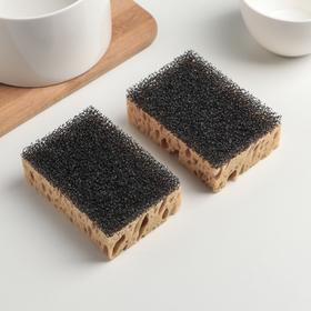 Набор губок кухонных Domingo «Бубблер», 9,6×6,4×3,3 см, 4 шт - фото 4645979