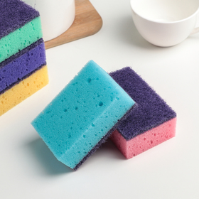 Set of sponges for dishes 9.6 × 6.4 × 3.7 cm