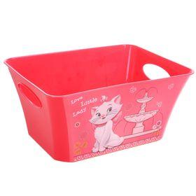 Корзина для игрушек 'Кошечка Мари', 5 л, цвет коралловый Ош