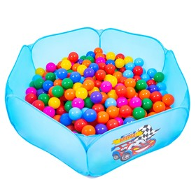 Balls to the dry pool with the pattern, diameter of bowl 7.5 cm set of 30 pieces, mixed colors