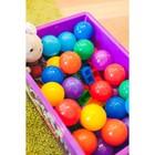 Шарики для сухого бассейна с рисунком, диаметр шара 7,5 см, набор 90 штук, разноцветные - фото 1003718