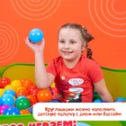 Шарики для сухого бассейна с рисунком, диаметр шара 7,5 см, набор 90 штук, разноцветные - фото 1003709
