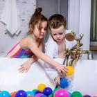 Шарики для сухого бассейна с рисунком, диаметр шара 7,5 см, набор 90 штук, разноцветные - фото 1003712