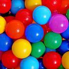 Шарики для сухого бассейна с рисунком, диаметр шара 7,5 см, набор 90 штук, разноцветные - фото 1003714