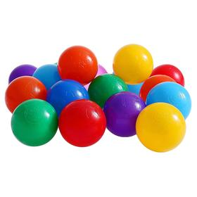 Balls to the dry pool with the pattern, diameter of bowl 7.5 cm, set of 150 pieces, mixed colors