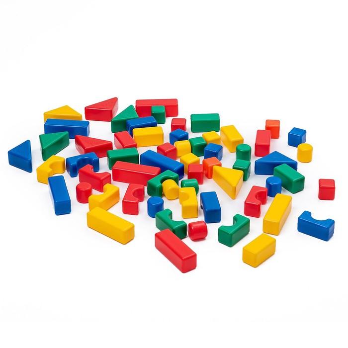 Строительный набор, 60 элементов, 4 х 4 см - фото 416506695