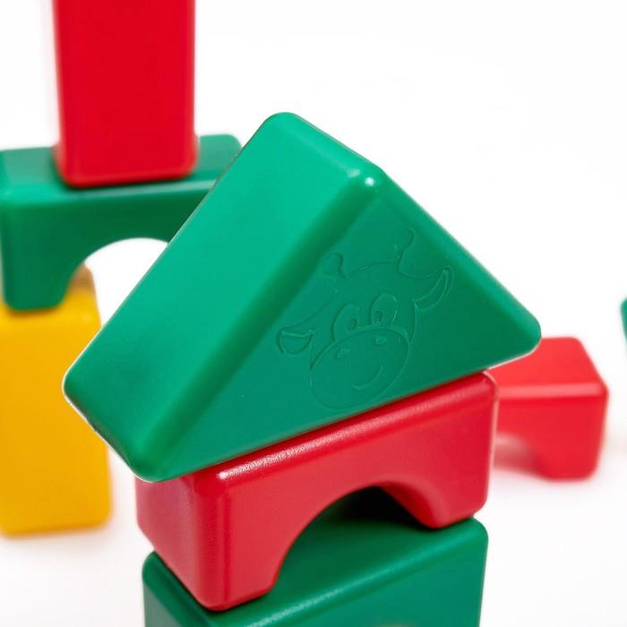 Строительный набор, 60 элементов, 4 х 4 см - фото 416506698