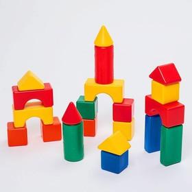 Building set, 21 elements, 6 x 6 cm