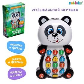 Игрушка музыкальная обучающая «Панда», с проектором, работает от батареек в наличии