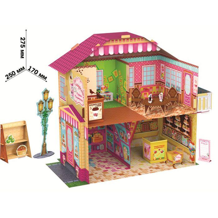 "Mini house ""Confectionery"" precast 3D, accessories, manual"