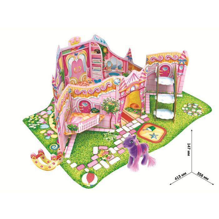 Дом для пони сборный 3D, аксессуары, инструкция, игрушка Пони