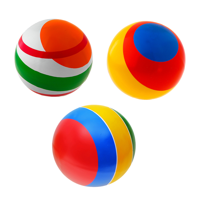 Мяч с полосой, диаметр 200 мм, МИКС