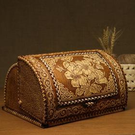 Хлебница «Лилии», 32х25х19 см, береста