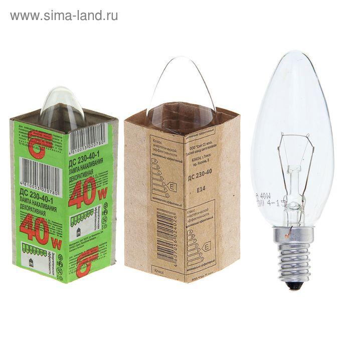 Лампа накаливания ДС, Е14, 230 В, 40 Вт