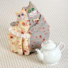 """Набор для изготовления текстильной грелки на чайник """"Кошки - Грелка"""", 21 см"""