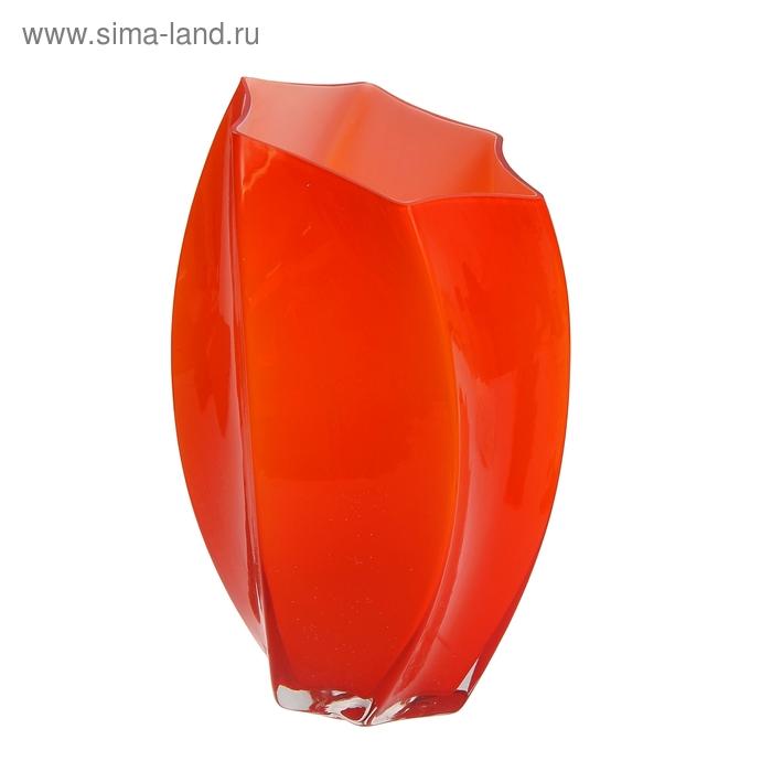 """Ваза """"Дельта"""" большая, оранжевая"""